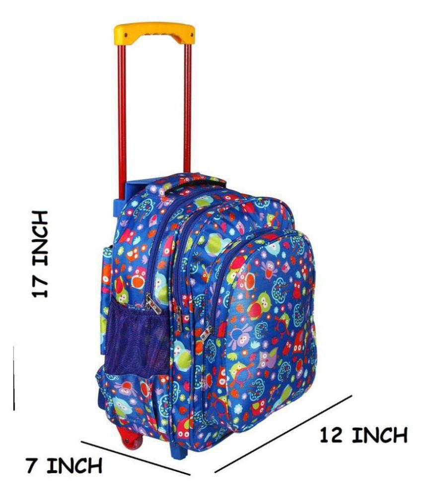 Da Tasche Blue Polyester College Bag
