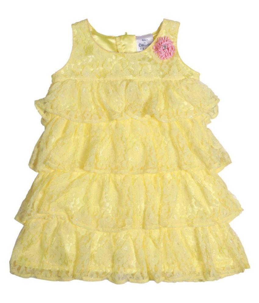 Yellow Lace Step Dress