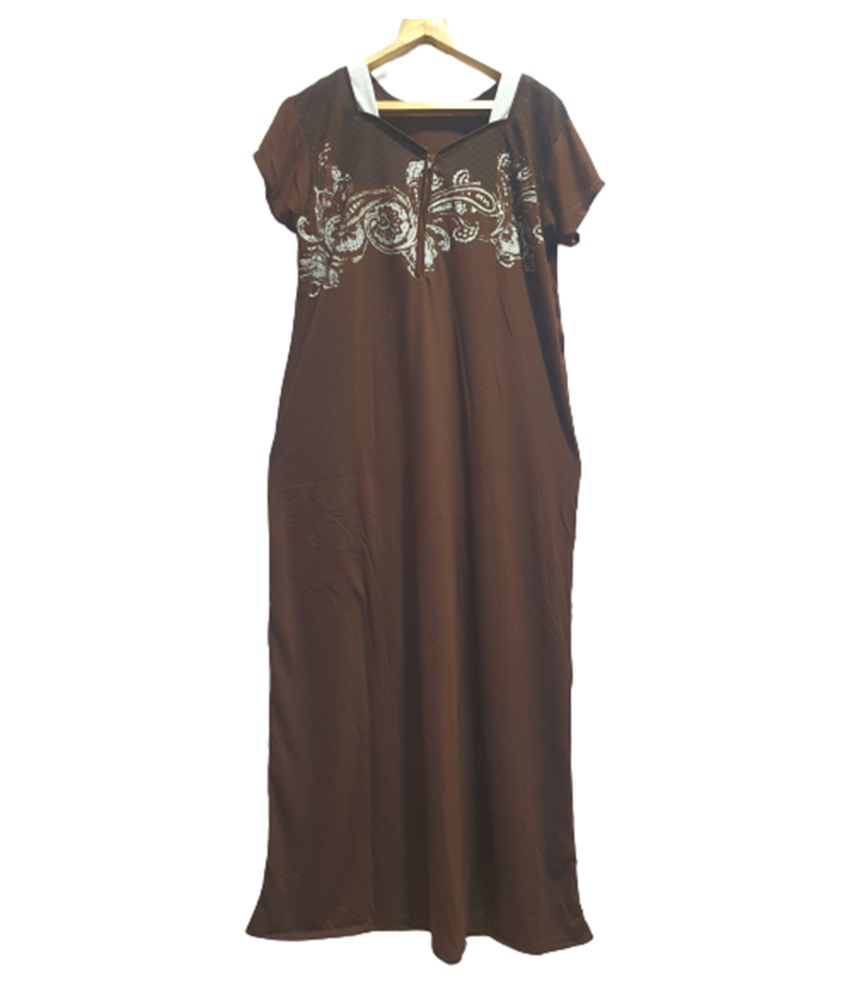 Avenew Fashions Hosiery Nighty & Night Gowns - Brown