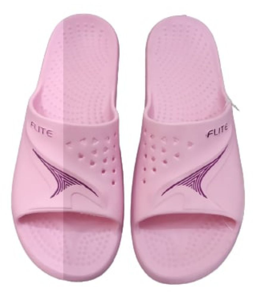 WOMEN FASHION COLLECTION Pink Slides