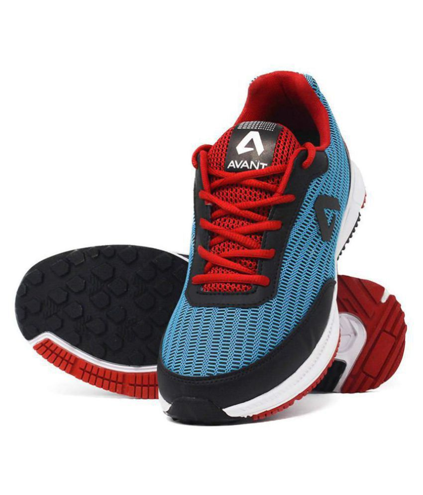 Avant Cushioned Athletic Blue Running Shoes