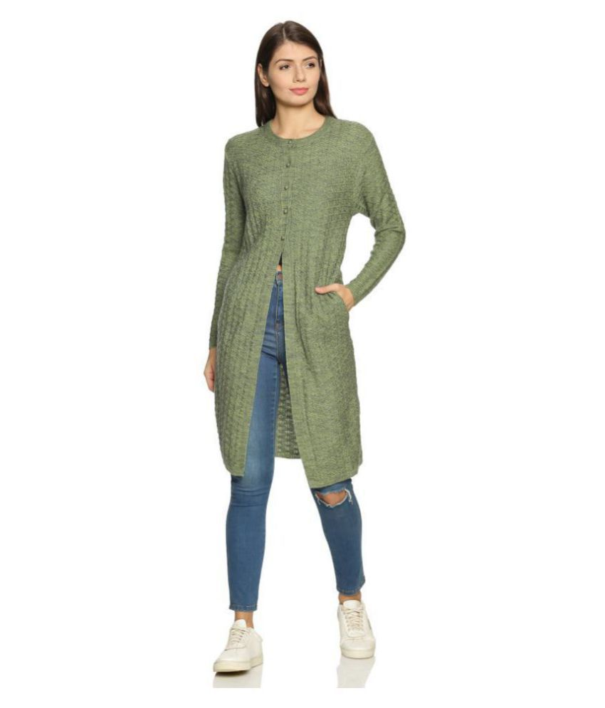 Clapton Acrylic Green Buttoned Cardigans