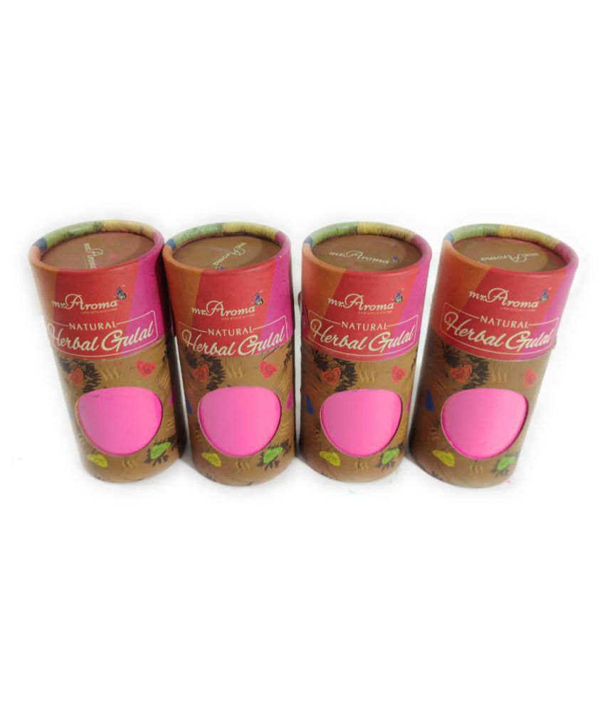Mr. Aroma Organic Ingredients Holi Colours - Pack of 4