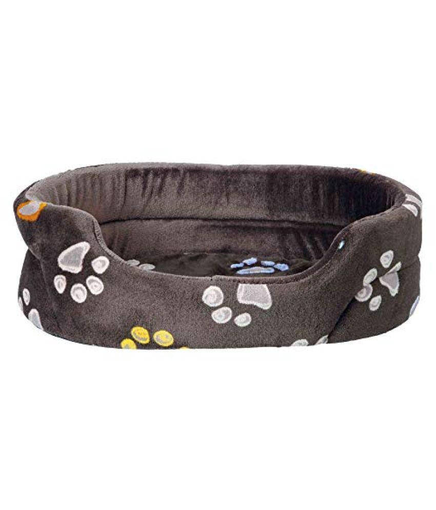 Pet Winter Combo for Dog-Barney Fleece Blanket(150X100cm),Black/Grey+Jimmy Bed(45x35cm)+Roast Duck Slice Dog Treats(Pack of 2)