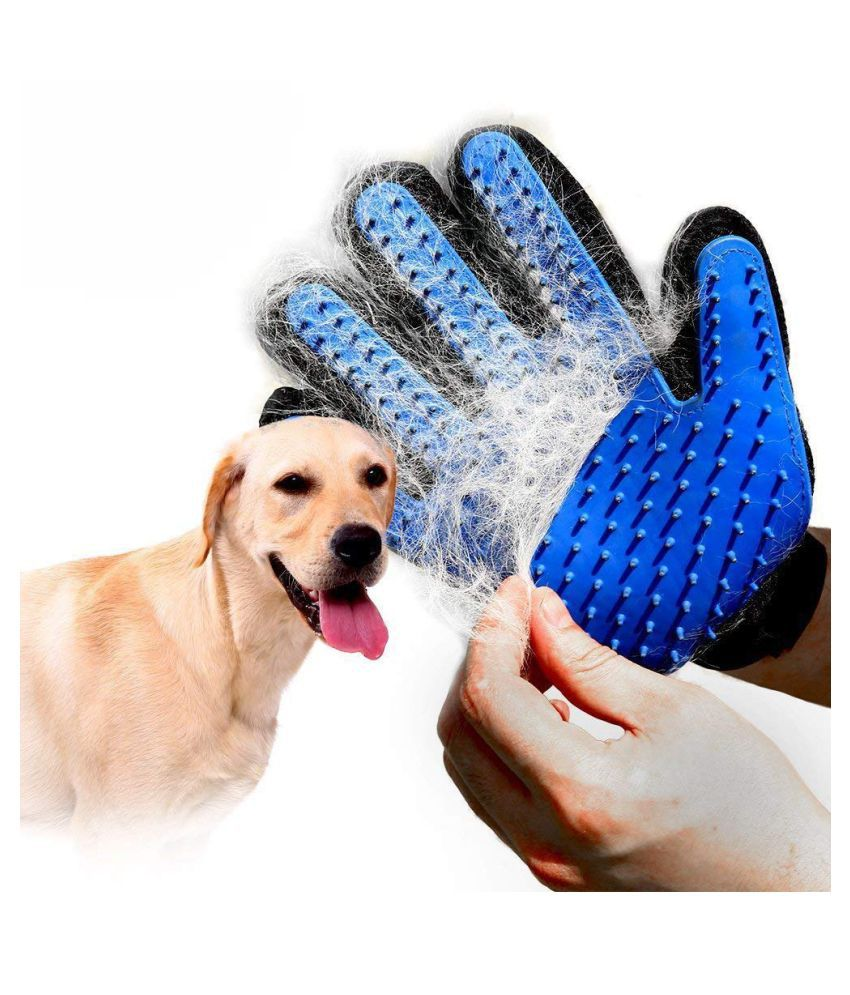 Rubber Mesh Cloth Dog Hair Fur Grooming Glove Remover Bath Wash Brush Dogs Cleaning Massage Comb For Long Short Pets Pet Favor