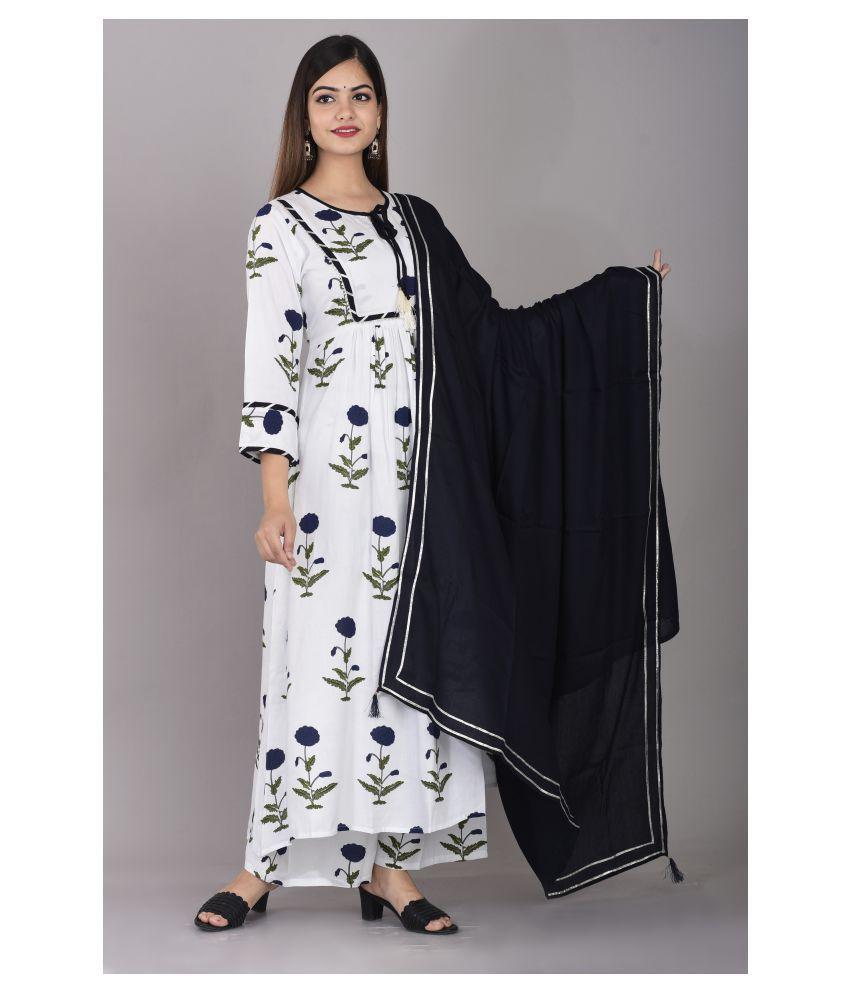 Vastranikhar Rayon Kurti With Palazzo - Stitched Suit