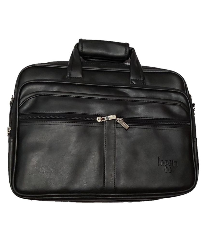 Dhanak lf003 Black P.U. Office Bag