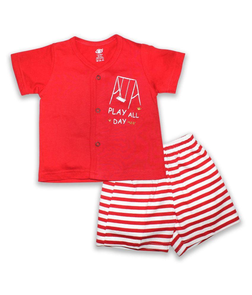 Little kids® Baby Half Sleeve Dress Set t-Shirt and Shorts