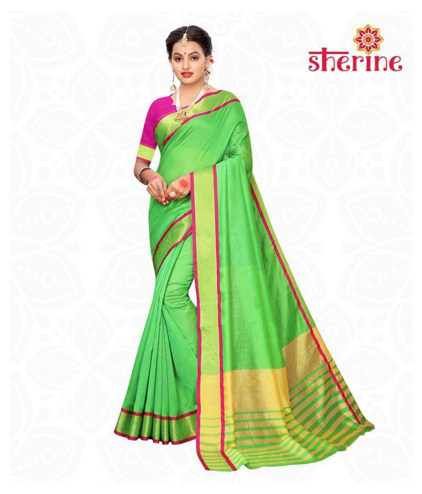 Sherine Green Chanderi Saree