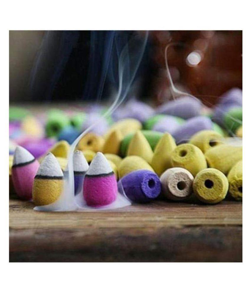 Spiritualis Mantra Assorted Resin Smoke Backflow - Pack of 50