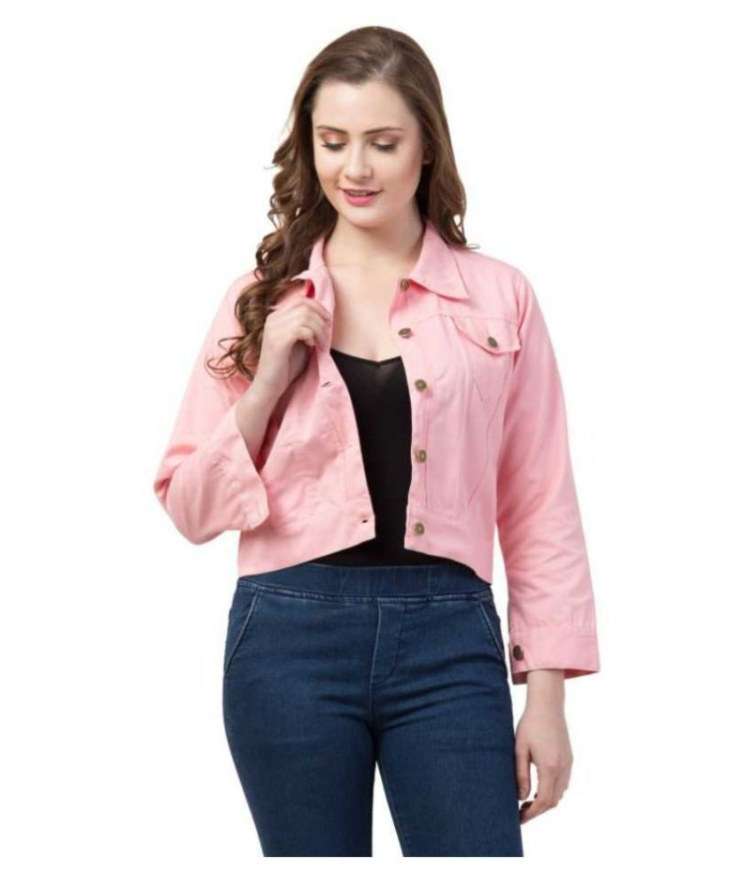 Dress Universal Cotton Blend Pink Jackets