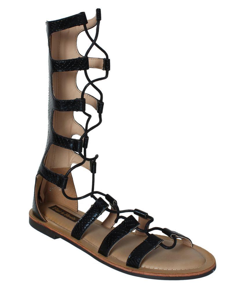 Flat N Heels Black Flats