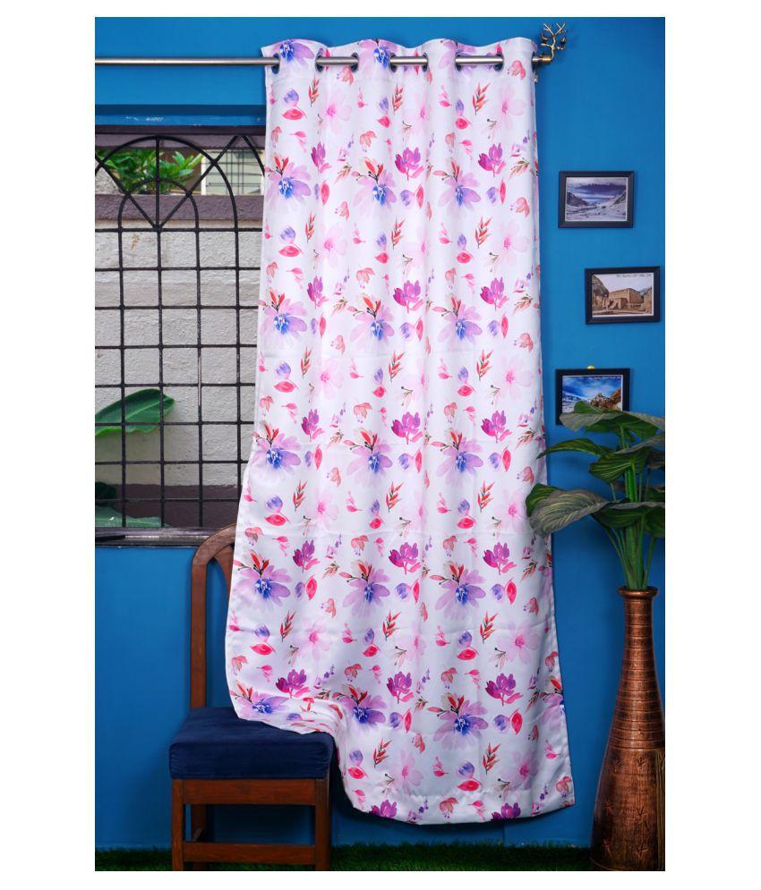 PardaOnline Single Window Blackout Room Darkening Eyelet Polyester Curtains Light Pink