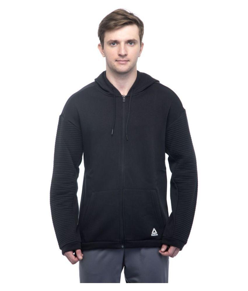 Reebok Black Poly Cotton Sweatshirt