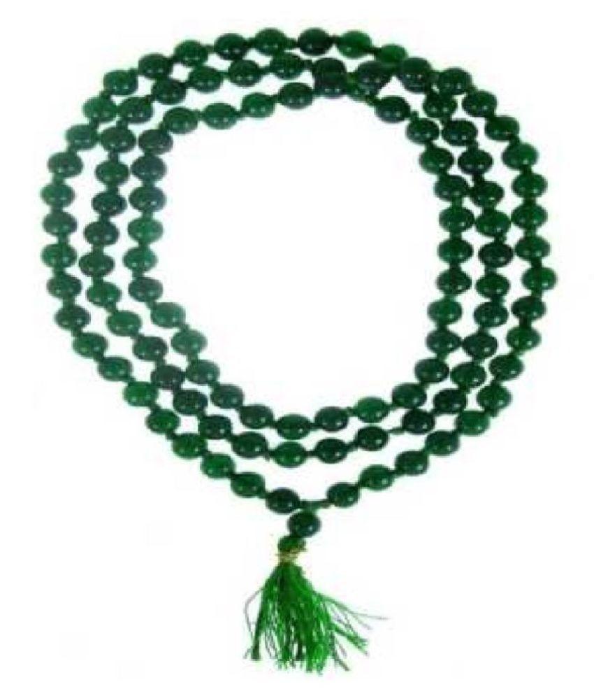 Emerald Gemstone Panna Mala for Women by Ratan Bazaar