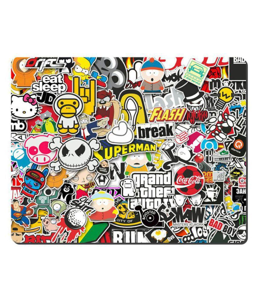 Ryca Cartoon Logo 3D Design High Resolution Mouse pad HD Print AntiSkid base High Speed Quality Mousepad
