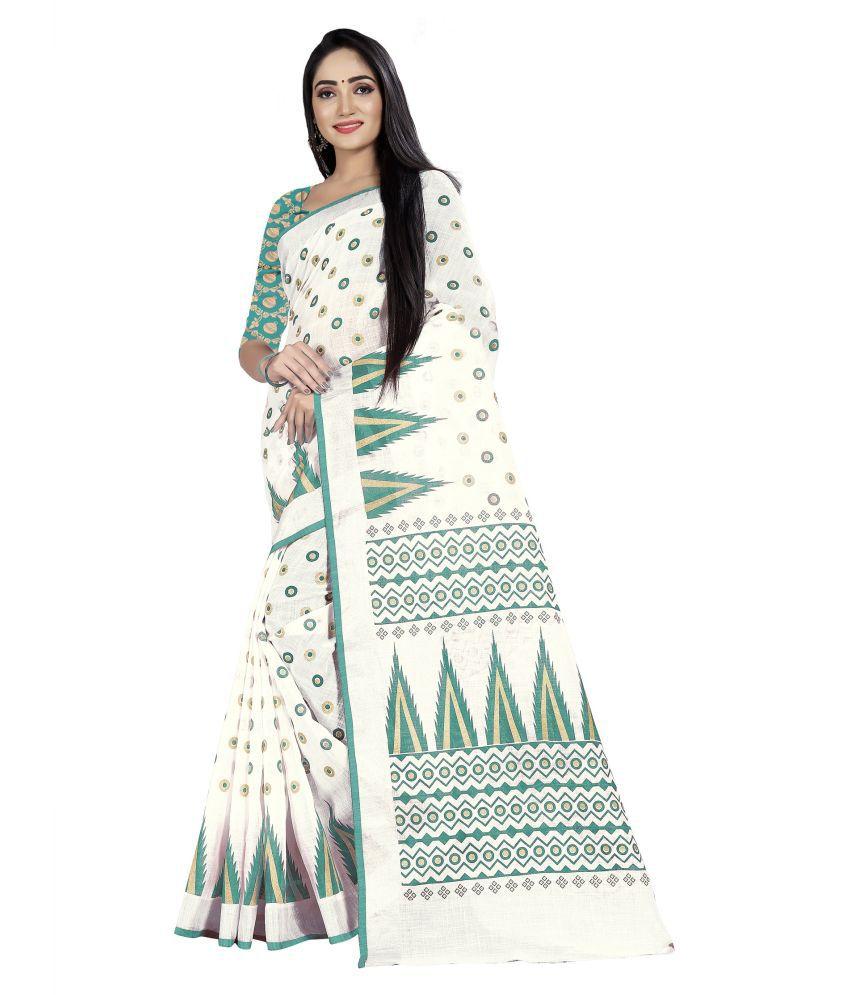 SRP Fashion Selection Green Linen Saree