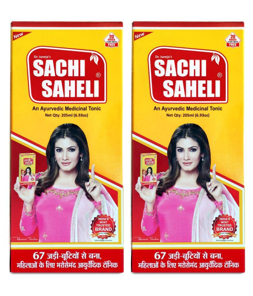 Sachi Saheli Syrup for Women Healthcare, 205ml Liquid 205 ml Pack Of 2