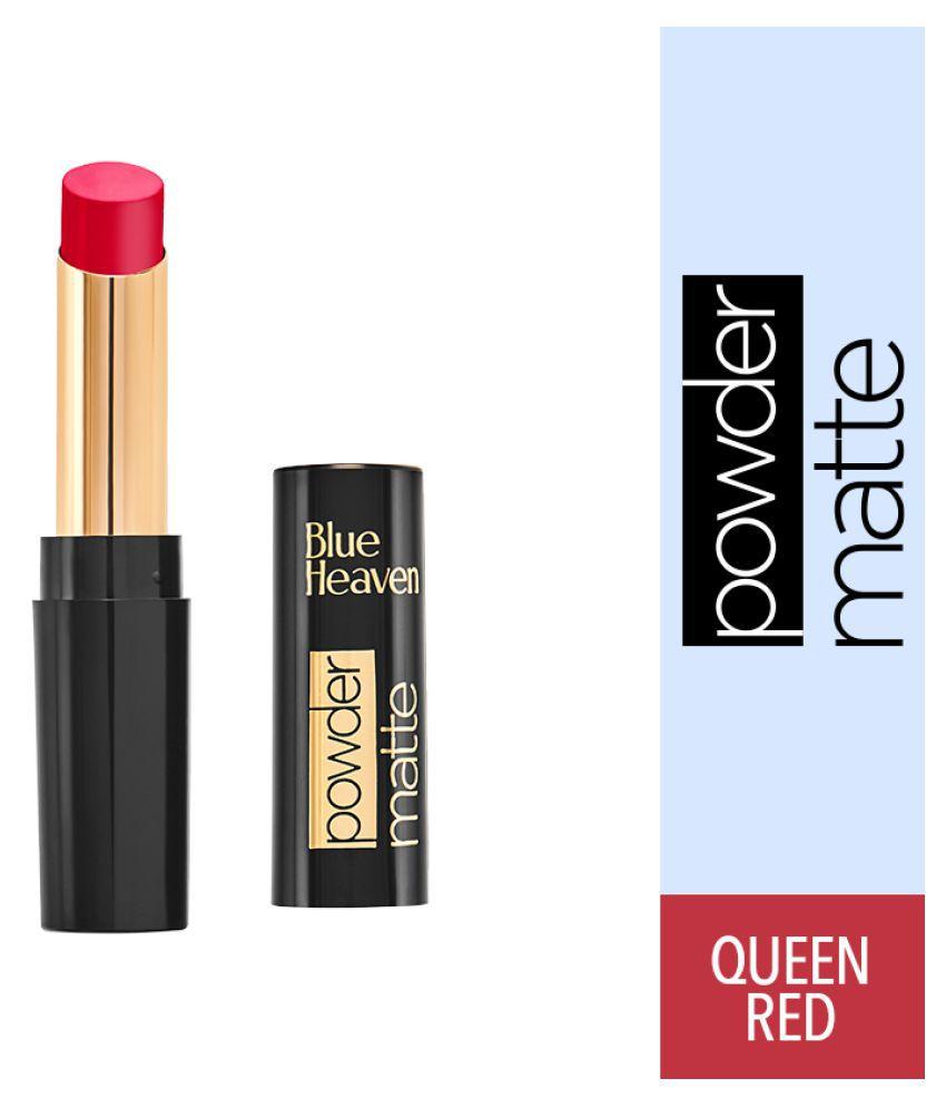 Blue Heaven Powder Matte Lipstick Queen Red RM04 Red 3.5 g