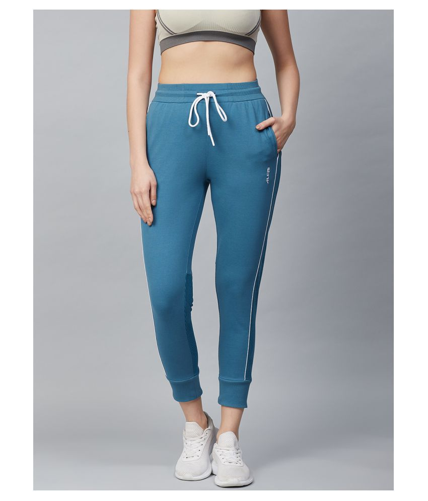 Alcis Blue Cotton Trackpants