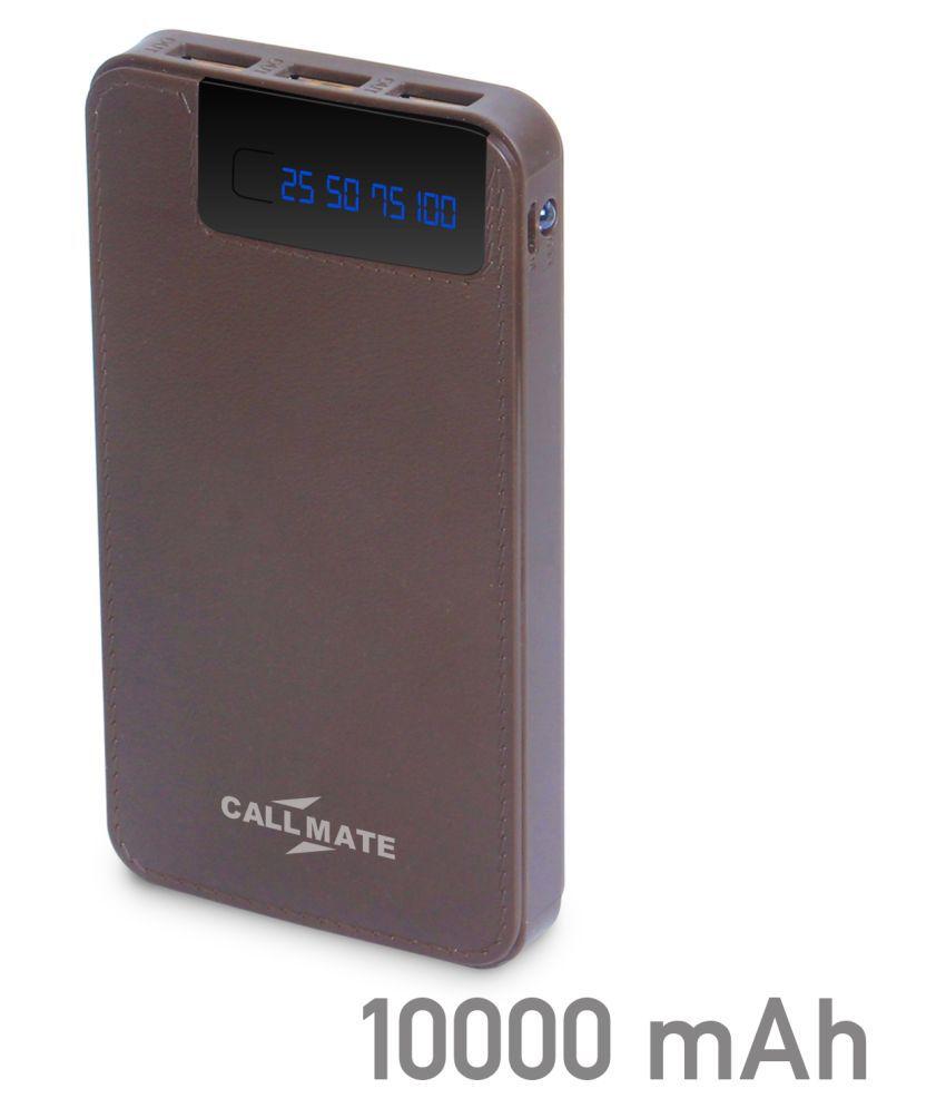 Callmate R7 10000 -mAh Li-Polymer Power Bank Brown