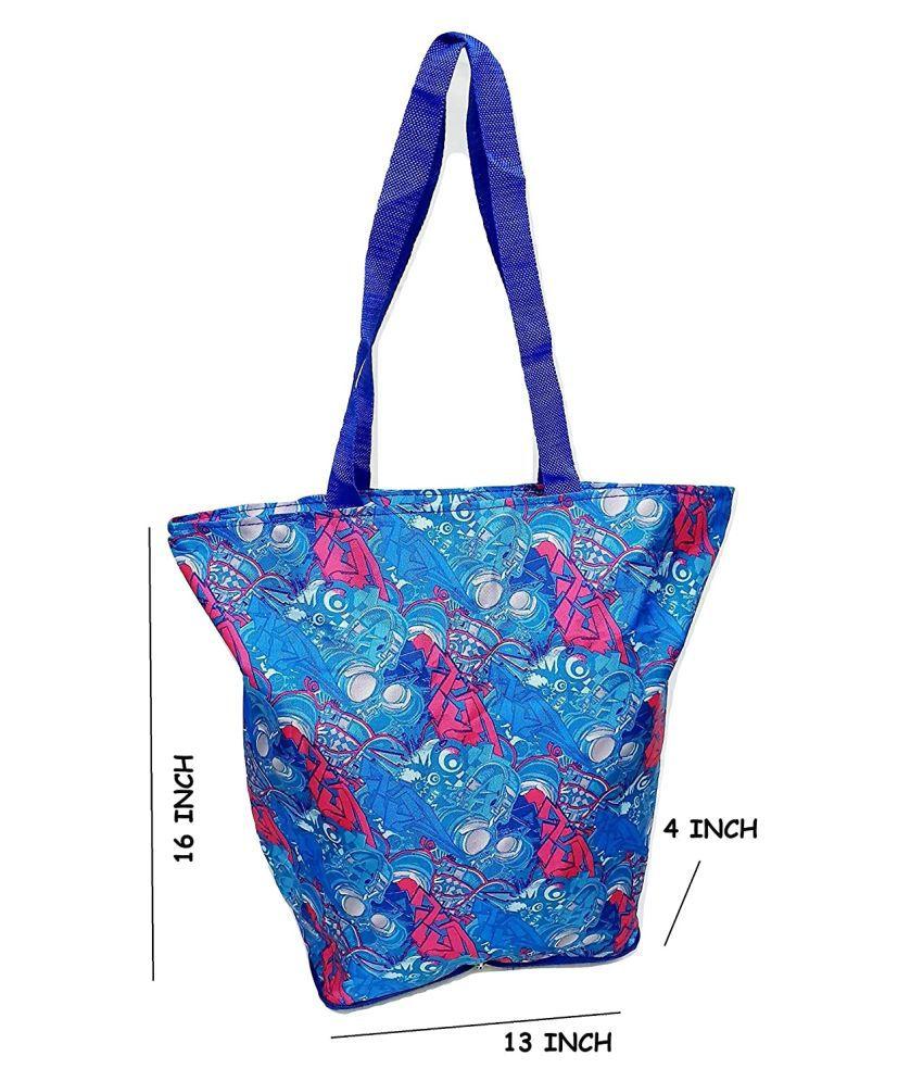 Da Tasche Blue P.U. Shoulder Bag