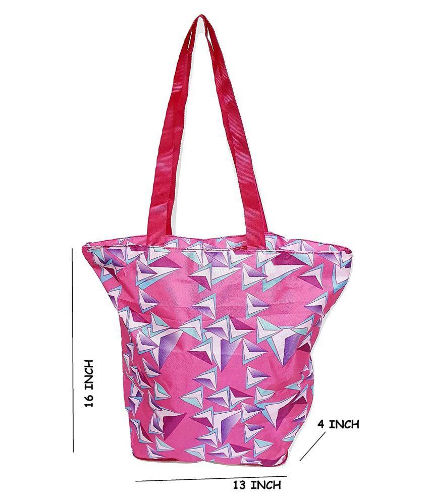 Da Tasche Pink P.U. Shoulder Bag