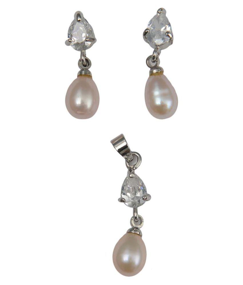 Taj Pearl Designer Freshwater Pearl Pendant set