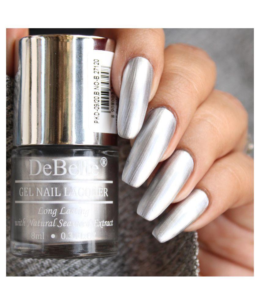 DeBelle Chrome Silver Nail Polish Metallic Silver Metallic 8 mL