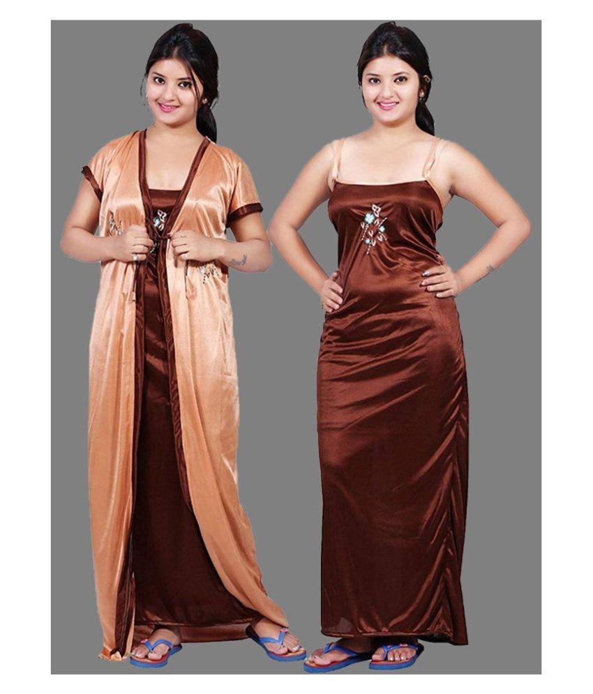 Gospel Satin Nighty & Night Gowns - Orange