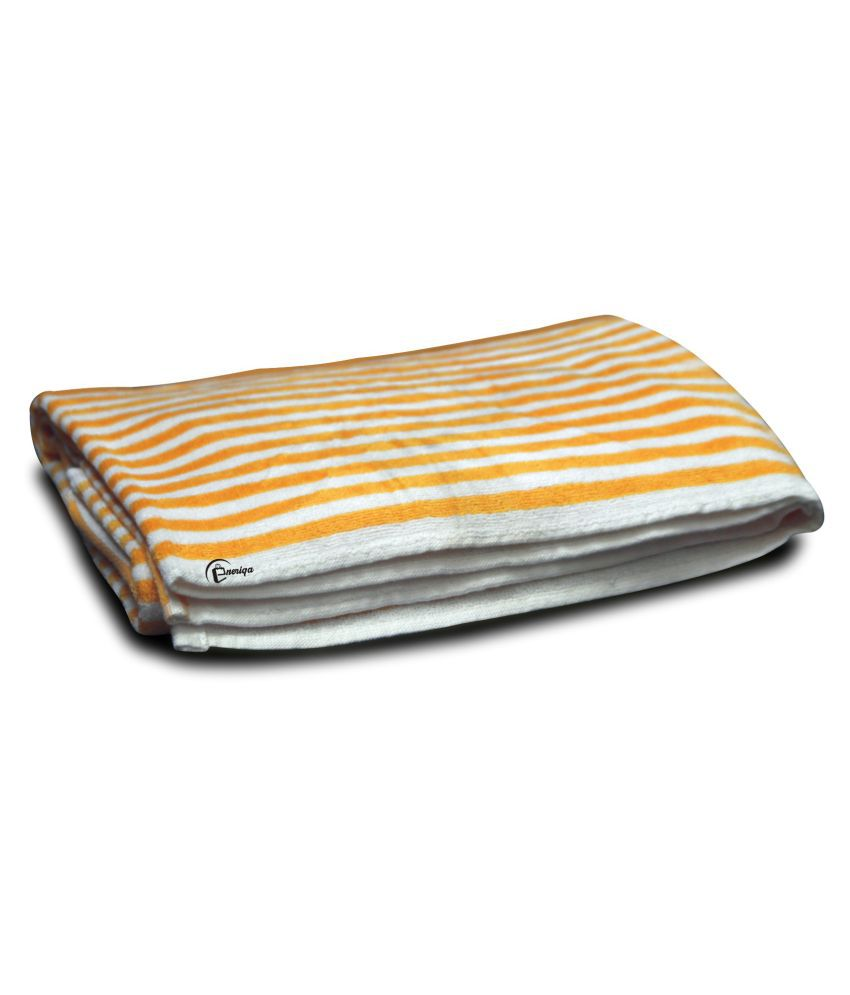 Eneriqa Single Cotton Bath Towel Yellow