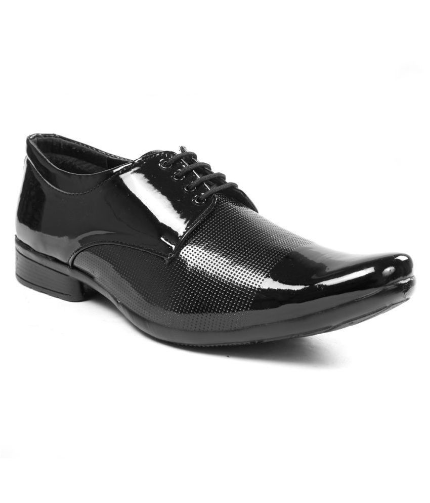 Bucik Office Genuine Leather Black Formal Shoes