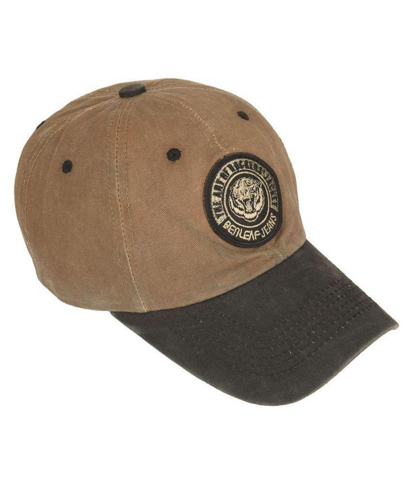 Men's Washed Cotton Baseball Cap Khaki Freesize