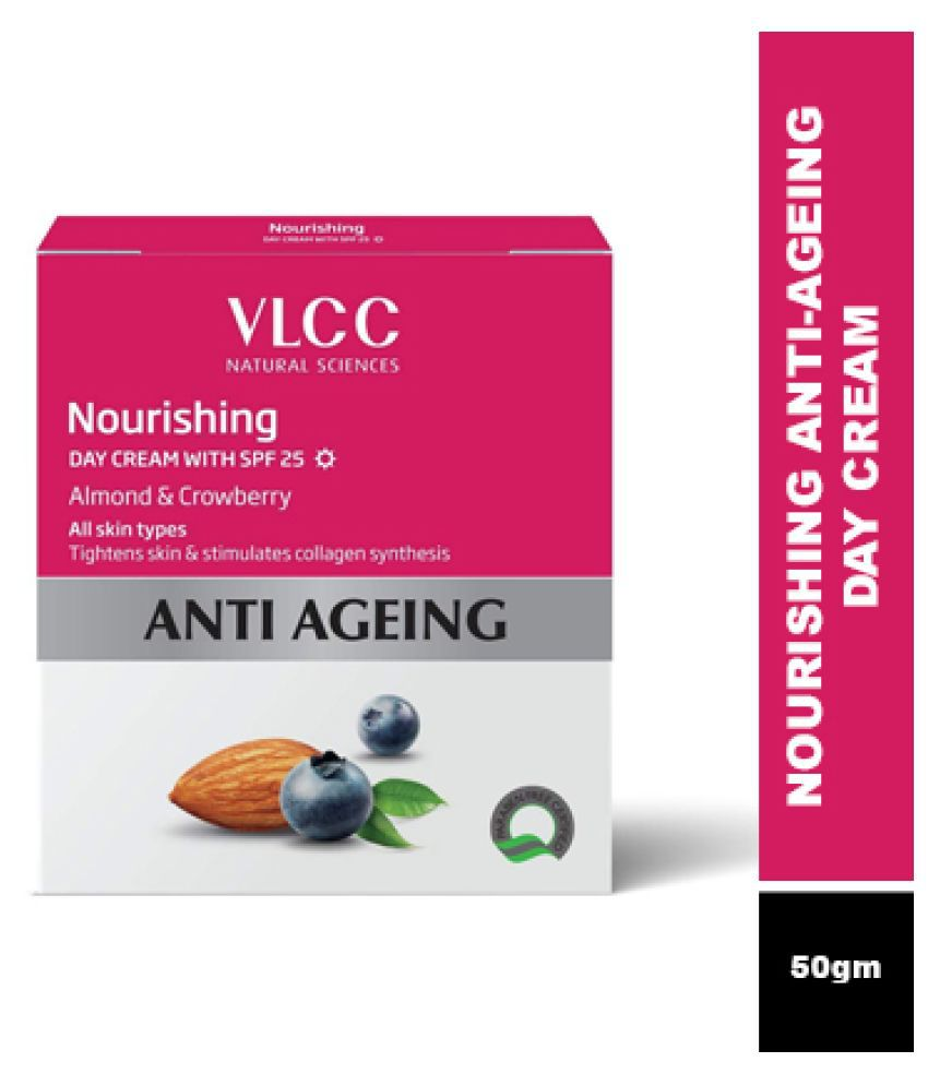 VLCC Nourishing Anti Aging Day Cream SPF-25 - For Skin Tightening & Nourishment (50 g)
