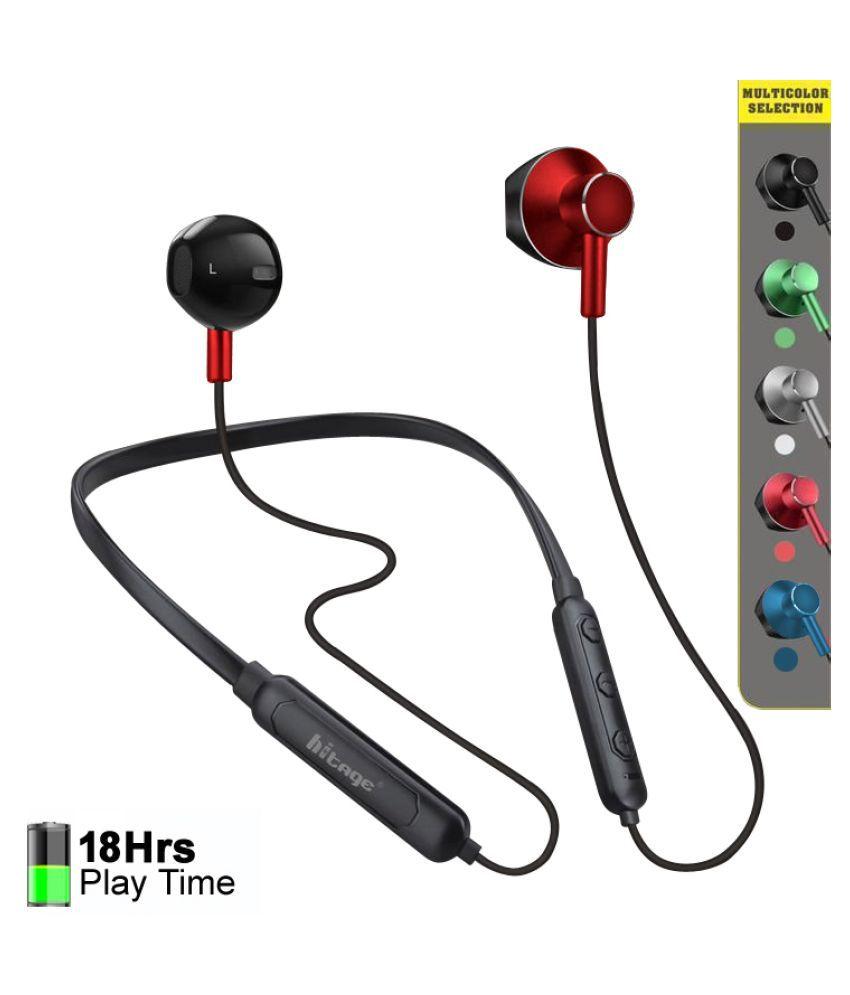 hitage SPORTS HEADSET WIRELESS NECKBAND Neckband Wireless With Mic Headphones/Earphones