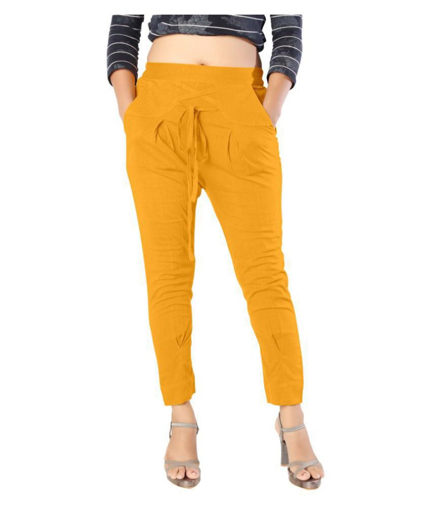 elenia Cotton Jeans - Yellow