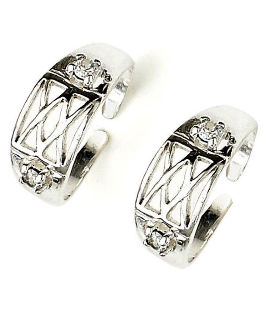 Rinayra Jewels Impressive White Zircon Toe Ring-TR265