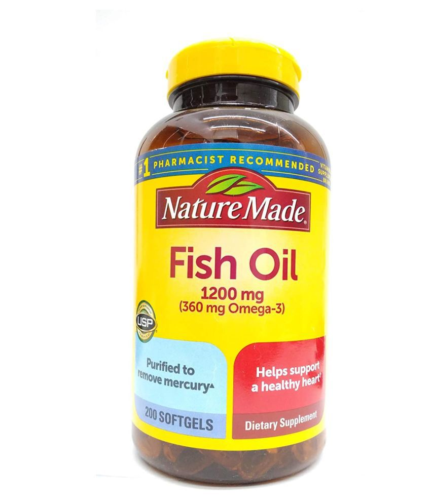 Nature Made Fish Oil 1200 Mg With 360 Mg Omega-3 - 200 Softgels 1 no.s Multivitamins Softgel