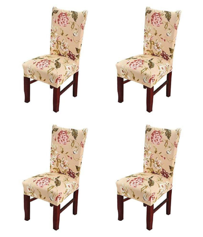 House Of Quirk 2 Seater Polyester Set of 4 Sofa Cover Set