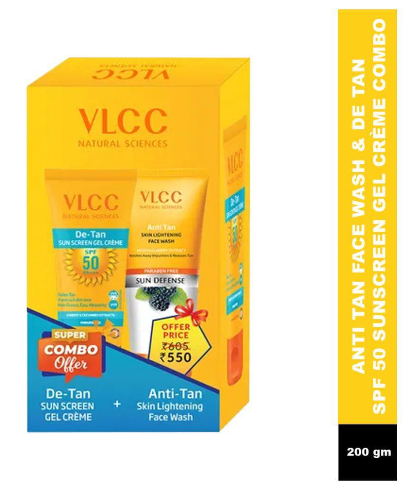 VLCC Sunscreen Cream SPF 50 PA+++ Light 250 g g Pack of 2