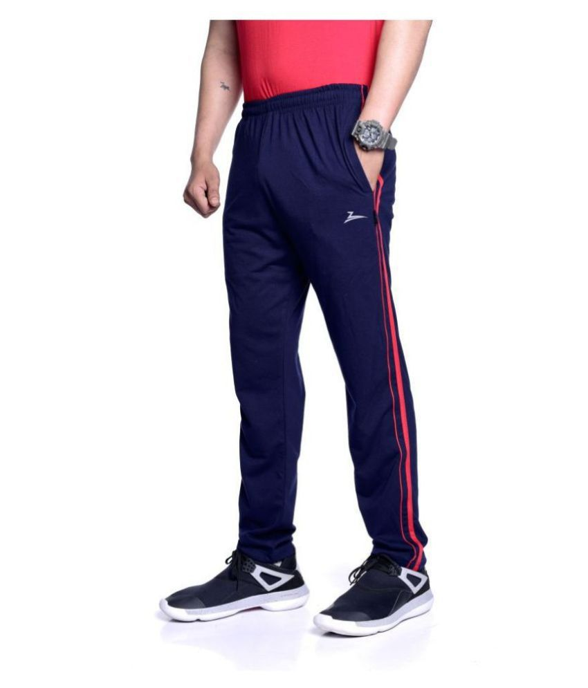 Zeffit Navy Cotton Blend Trackpants Single