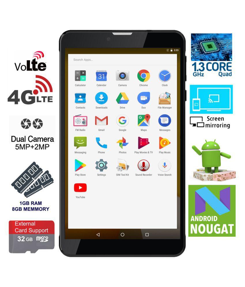 smartbeats Datamini 8GB T7 Black ( 4G + Wifi , Voice calling )