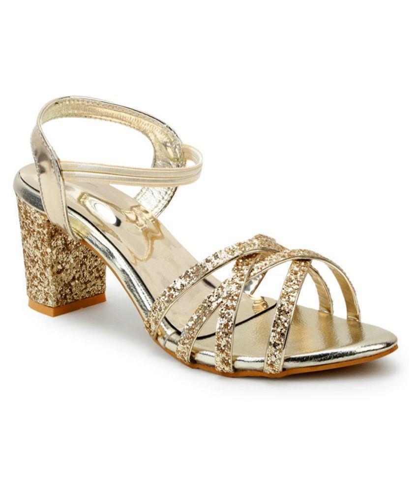 Footster Gold Block Heels
