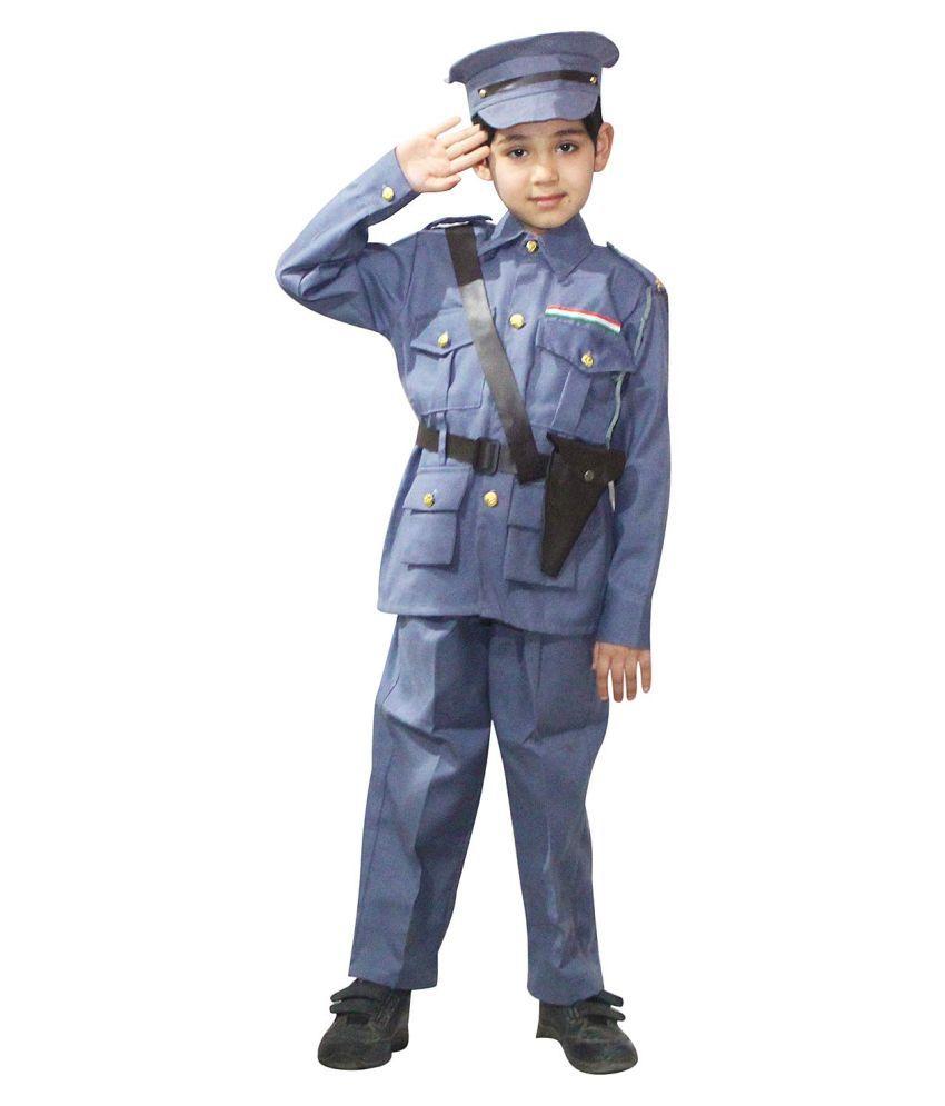 Kaku Fancy Dresses Our Helper/National Hero Indian Navy Costume -White, 3-4 Years, for Boys & Girls