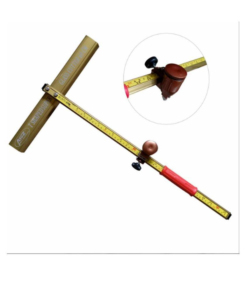 A TO Z Glass T-Shaped Cutter T Style Ruler SPEED Cutting Glass 4-19mm (Inches and Centimeters) 60cm Length