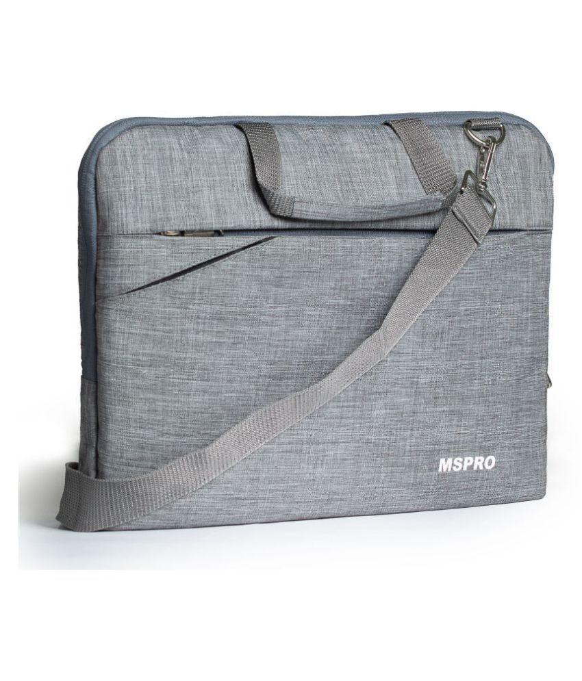 Mspro MSL-01 Grey Fabric Office Bag