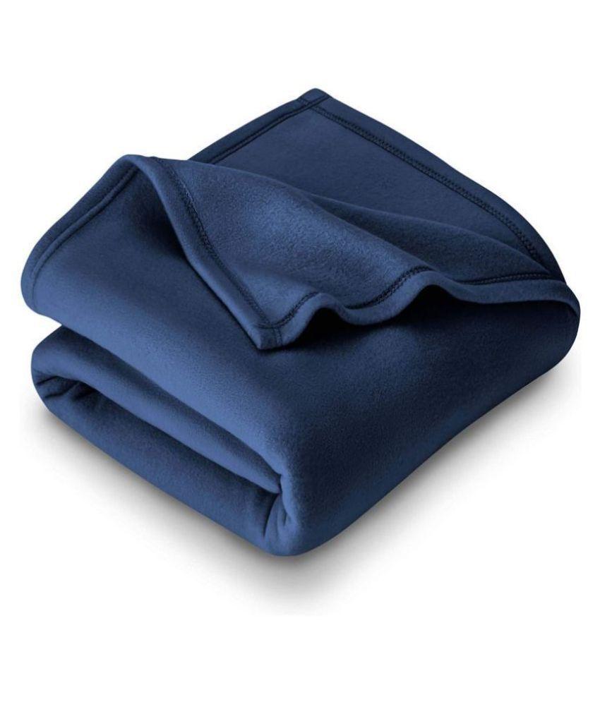 HOMETALES Double Polar Fleece Plain Blanket