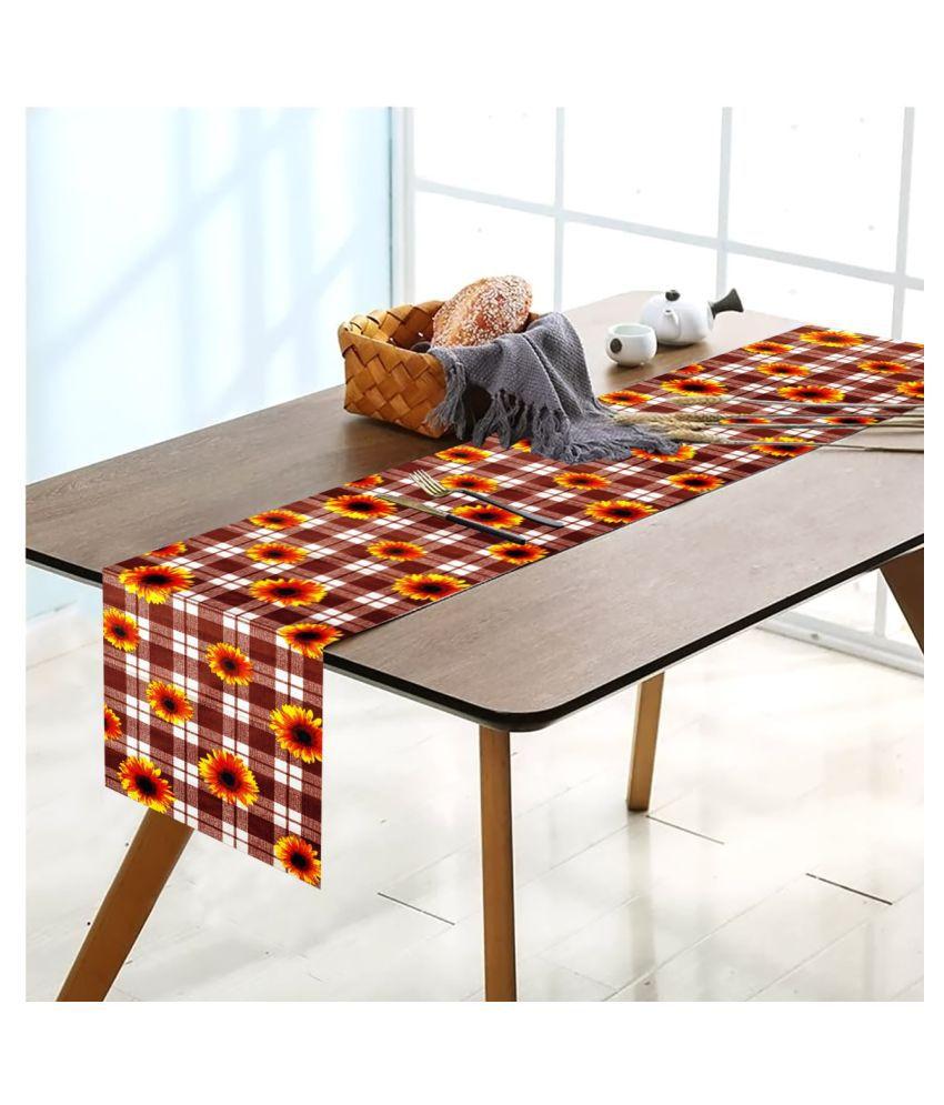 Revexo 6 Seater Polyester Single Table Runner & Mats
