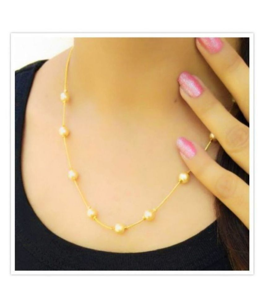 Darshini Designs Golden Traditional Necklace