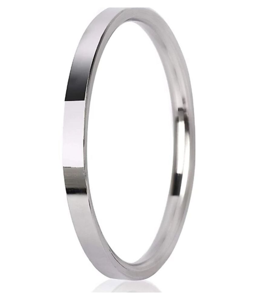 Vaiseema Silver Plated Stainless Steel Kada For Men and Women